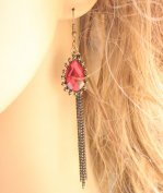Gothic Ruby Lolita Earrings