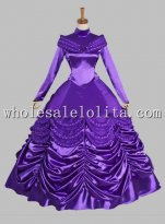 Disney Cosplay Beauty and the Beast Purple Belle Adult Costume