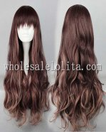 New Arrival Zipper Japanese Harajuku Style Lolita Wigs Coffee Colored Long Hair
