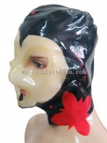 Latex Costume Hood Paste Flower Face Mix Color