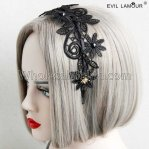 Brief Black Lace Princess Headband Masquerade Accessories