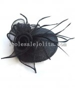 Elegant British Style Flax Ladies Party Hat