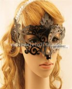 Black Laser Cut Cosplay Half Face Carnival Masquerade Mask