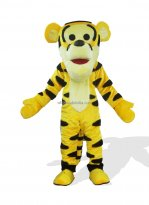 Yellow Tiger Plush Adult Mascot Costume