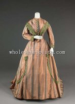 19th Century Victorian Dress - 1865 Civil War Victorian Afternoon Dress