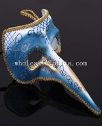 Venetian Cosplay Long Nosed Masquerade Mask with Glitter detail