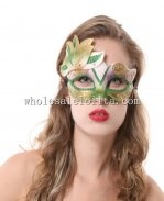 Carnival Glitter Venetian Masquerade Mask with Leaf Ear