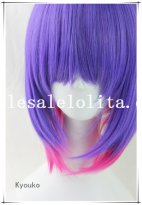 Fashion Cosplay Anime Short Straight Heat Resistant Mix-colored BOBO Wig