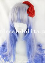 Japan Harajuku Wavy Long Mixed Color Beautiful Anime Wig