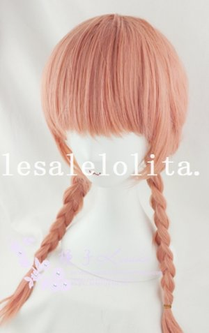 Cosplay Anime Heat Resistant BOBO Hair Wig with Braids
