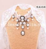 Hotsale Charm White Lace Pearl Pendant Collar Choker Necklace for Women