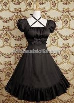 Black Ruffles Cotton Classic Lolita Dress