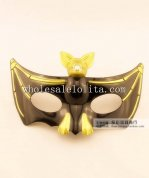 Black Halloween Cosplay Masquerade Mask with Bat