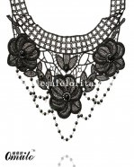 Fashion Flower Lace Gem Chain Pendant Collar Choker Necklace