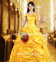Beauty and the Beast Belle Cosplay Costume Prom Dress