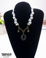 Gothic Lace Black Diamond Lolita Necklace MTN19B