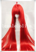 Cosplay Long Heat Resistant Straight Full Hair Red Wig