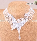 Fashion Women's Butterfly Lace Collar Choker Necklace