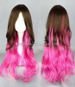 Brown And Pink Gradient Long Lolita Curly Hair/Wig