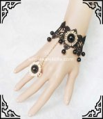New Black Lace & Golden Bead Exquisite Ladies Bracelet