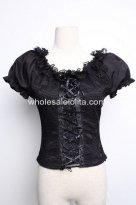 Black Fishnet Gothic Lolita Blouse