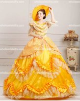 Luxury Yellow Marie Antoinette Inspired Prom Dress Birthday Party/Quinceanera Ball Gown