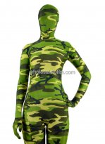 Green Carmouflage Full Body Lycra Spandex Zentai