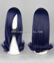 Cosplay Japanese Harajuku Lolita Wigs Blue Long Hair For Ladies
