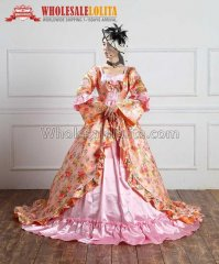 Victorian Era Ball Gowns | Victorian Gothic Cosplay Satin Dress Ball Gown Prom Reenactment