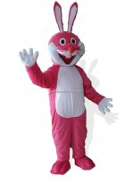 Adult Pink Rabbit Mascot Costume