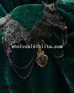 Black Fashion Gothic Collar Choker Pendant Chain Necklace