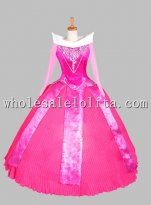 Disney Cosplay Pink Sleeping Beauty Adult Costume Ball Gown