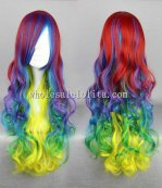 Hot Sale Japanese Harajuku Lolita Wig Multi Color Long Curly Hair