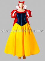 Disney Cosplay Princess Snow White Adult Costume Dress with Cloak