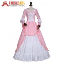Renaissance Princess Chiffon Period Dress Gown Theater Clothing Halloween Costume