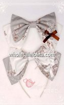 Two Tone Floral Printing KC Big Bow Lolita Headband