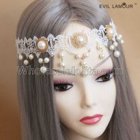 Bride Preal Lace Wedding Party Headdress Masquerade Party Accessories
