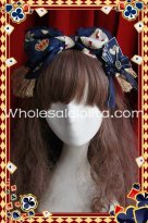 Deep Blue Playing Card Printing Lolita Headdress KC