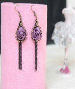 Gothic Royal Rose Lolita Earrings MTE03