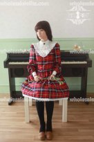 English Lady Vintage Plaid Lolita Dress