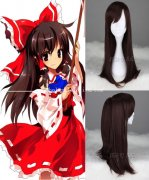 Anime Cosplay Hakurei Reimu in TouHou Project Cosplay Wig