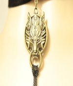 Gothic Bronze Wolf Head Lolita Necklace