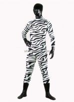 Hot Zebra Rubber Coating Zentai Suits