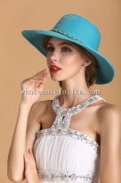 2014 Summer Paper Straw Chain Decoration Sun Protection Hat