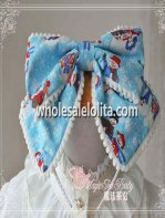 Snowman Series Blue KC Big Bow Lolita Headdress