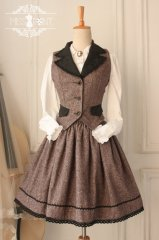 Vintage Gtohic Lolita Coffee Wool Suit
