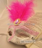 Carnival Glitter Feathered Masquerade Masks with Diamond for Adult and Child