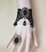 Gothic Black Party Dress Ladies Bracelet/Wrist Strap