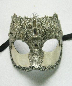 Handmade Couple Model Of Archaize Crack Lace With Diamond Masquerade Mask