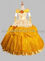 Disney Cosplay Belle Beauty and Beast Adult Costume Ball Gown